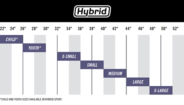 Simpson youth helmet sizing chart
